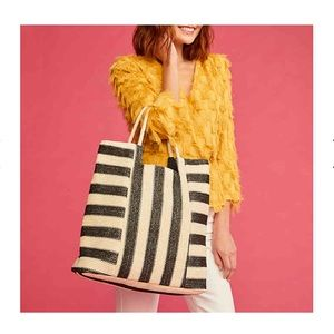 Kelly and Katie Striped Crochet Tote Bag, New